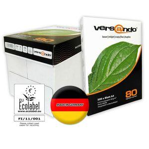 500 Blatt Versando Kopierpapier DIN A4, 80g/qm