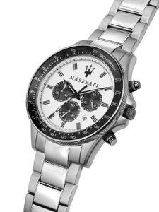 Maserati - Armbanduhr - Herren - SFIDA 44MM CHR WHITE DIAL BR SS - R8873640003