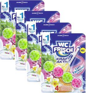 WC Frisch Kraft Aktiv 4er Pack Duftspüler Urlaubsträume Hawaii 4x1Stück Reiniger