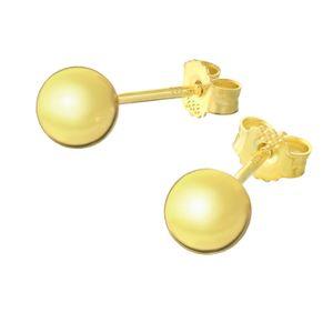 Paar 6mm Kugel Ohrstecker 8 Karat 333 Gelbgold glanz Damen Stecker Ohrringe 9064