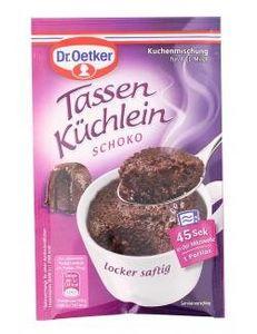 Dr Oetker saftiger und lockerer Tassenküchlein Schokolade 55g