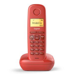 GIGASET A 270 rot Schnurloses Telefon Eco DECT Hörgeräte Kompatibel