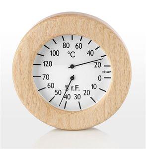Eliga Klimamesser für Infrarotkabine im Holzrahmen rund Ø155mm