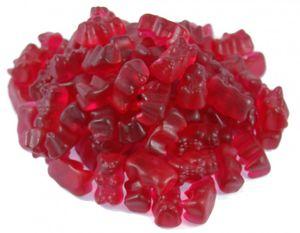 Haribo Goldbären Himbeer (1kg Beutel Gummibärchen dunkel rot) sortenrein