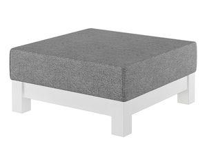 Gemütlicher gepolsterter Hocker für Schlaf- und Wohnzimmer mit wählbarer Farbe V-90.71-43, Holzart / Holzfarbe:Kiefer weiß