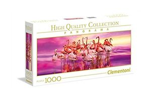 Clementoni High Quality Collection Puzzle Flamingo Tanz 1000 Teile Panorama  Puzzel