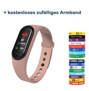 Zodight M4A Fitness Armband mit Pulsmesser, Fitness Tracker Blutdruckmessung Schrittzähler Uhr Wasserdicht IP68 Pulsuhr Aktivitätstracker Herzfrequenz Stoppuhr Schlafmonitor GPS Smartwatch Für Herren Damen Kinder Rosa