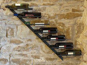 Weinregal Diagon Rechts 100 cm aus Metall Flaschenhalter Flaschenständer Wandregal