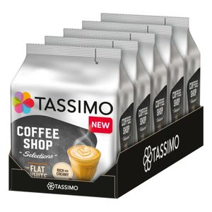 TASSIMO Coffee Shop Selections Flat White T Discs Kapseln 5er Pack 5x8 Getränke