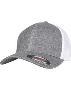 Retro Trucker Melange Cap - Farbe: Grey/White Mesh - Größe: S/M