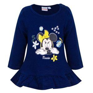 Disney Minnie Baby Longshirt Tunika, Glitzereffekt, blau, Gr. 68-86 Größe - 80