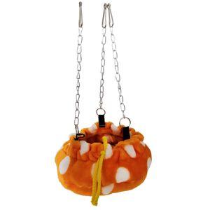 1 Stück kleine Haustier Hängematte Orange 18cm
