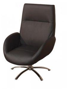Relaxsessel ohne Fuß-/ Sitzhocker schwarz, 8237.CPS von Heinz Hofmann