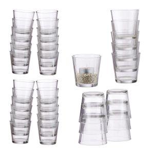 relaxdays 36 x Teelichtglas Teelichthalter, Dessertgläser, Teelichtgläser Windlicht Gläser