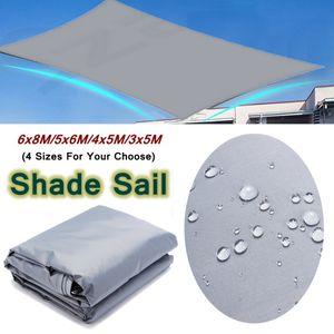 6X8m Sonnensegel Sonnenschutz Windschutz 70% UV-Schutz wasserdicht Rechteck