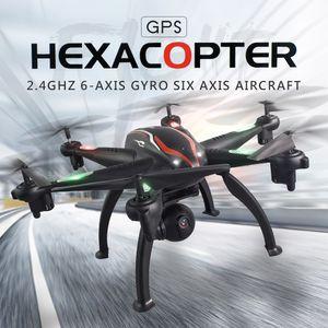 L100 2.4G 720P Weitwinkel-WiFi FPV-Kamera 6-Achsen-GPS-RC-Drohne Auto folgen RC Hexacopter RC Spielzeug fuer Erwachsene Kinder