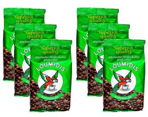 6x194g Beutel Loumidis Kaffee - gerösteter Mokka