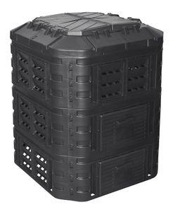 Komposter aus Kunststoff 860L, Schnellkomposter mit Belüftungssystem, modular steckbar, für ideale Zersetzung 860L
