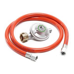 Druckminderer 50mbar Gasregler mit Propanschlauch 100cm Gasminderer Druckregler