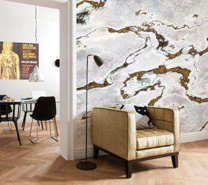 "Komar Fototapete ""Marmoro"", grau / braun, 368 x 254 cm"