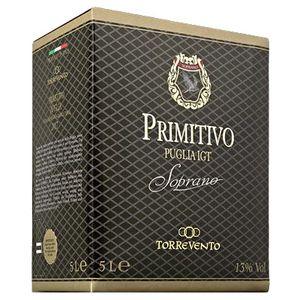 Soprano Primitivo Puglia IGT - Italienischer Rotwein 5,0L BIB 13,00% vol. 5 L