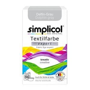 Simplicol Textilfarbe expert für kreatives Färben Delfin Grau