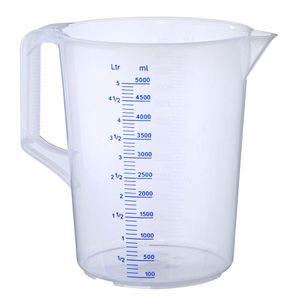Messbecher Meßkanne Meßbecher 5000 ml Geschlossener Griff PP geprägte Skala -20°C bis +100°C