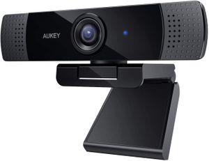 AUKEY Webcam 1080P Full HD mit Stereo Mikrofon, PC Kamera für Video Chat und Aufnahme, Kompatibel mit Windows, Mac und Android