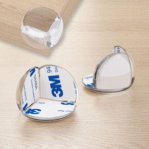 WELLGRO Kantenschutz rund - Silikon Eckenschutz, 3 x 3 x 2,3 cm (LxBxH), transparent, BPA frei - Menge wählbar, Stückzahl:24 Stück