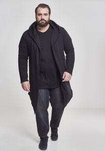 Urban Classics Cardigan/Strickjacke Long Hooded Open Edge Cardigan Black-XS
