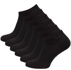 Vincent Creation® Bambus Sneaker Socken 6 Paar 43-46 schwarz
