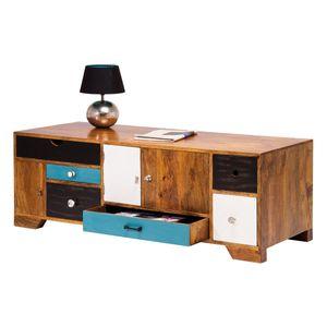 Kare Lowboard Babalou von Design mit 6 Schubladen in Braun / Bunt