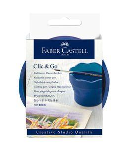 Faber-Castell Wasserbecher faltbar CLIC & GO Blau Creativ Studio