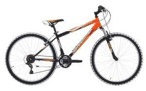 26 Zoll Mountainbike Cinzia Shark Federgabel 18 Gänge Orange-Schwarz 38 cm Rahmengröße