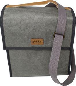 KeMar Kitchenware Lunchbox Tasche aus PE Papier | Hell Grau | Wasserabweisend | Vegan | Recycelt | Nachhaltig