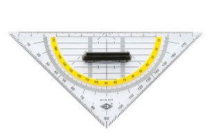 WEDO Geodreieck Hypotenuse 160 mm mit abnehmbarem Griff (1 Stück)