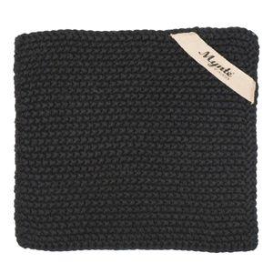 IB Laursen Mynte Topflappen schwarz black gestrickt Küche Kochen Topfhandschuh