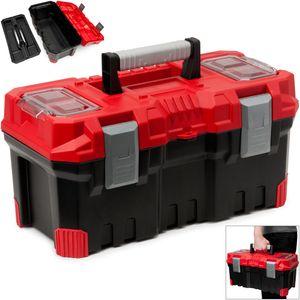 Werkzeugkasten leer Kunststoff Abschließbar 19' Klickverschlüsse Antirutsch Griff viele Unterteilungen - Werkzeugkiste Werkzeugbox Werkzeugkoffer Montagekoffer