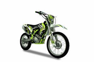 Dirtbike 250ccm 4T Pitbike 21/19 Zoll Motocross Vollcross Enduro Neon Grün Cross