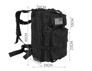 Militär Rucksack 20L / 35L Trekkingrucksack Outdoor Camping Molle 4 Farben 8915, Farbe:Schwarz/ black, Größe:20 L