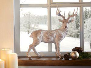 Tierfigur 'Hirsch' Tisch dekorativer Blickfang stimmungsvolle Dekoration Figur