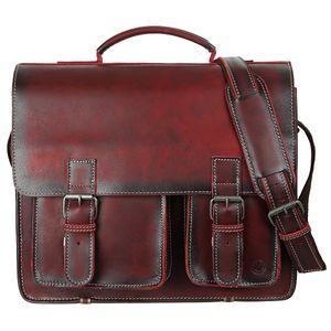 Greenburry Buffalo 1128/NB-26 Leder Aktentasche mit Notebookfach Rot