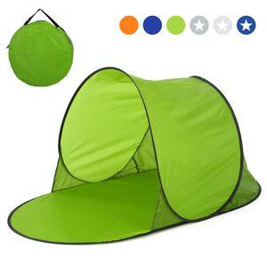 Strandzelt Pop up Zelt Automatik Strandmuschel Sommer Meer Sonnenschutz Outdoor Wasserzelt 142 * 72 * 69cm,Gruen