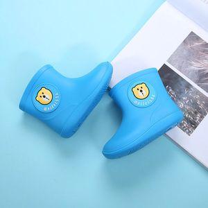 Kleinkind Kinder Baby Jungen Mädchen Cartoon Gummi Wasserdichte Regenschuhe Regenstiefel Größe:25,Farbe:Blau