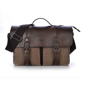 Männer Casual Umhängetasche Hand Tasche Braun 37x12x28cm Aktentaschen