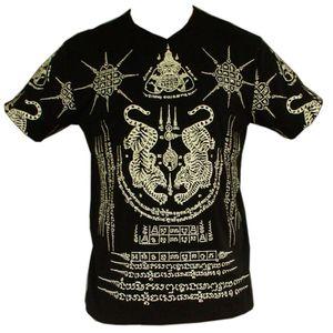 PANASIAM T-Shirt Garuda Tiger, Farbe/Design:Schwarz, Größe:L