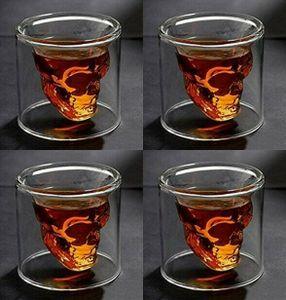 Skull-in-glass Winkee 4 Schnapsgläser Shot Glas Totenkopf Schädel 25ml Partyglas Weingläser