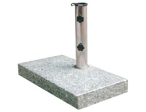 Siena Garden 213345 Granitschirmständer Balkon ; Farbe: Grau ; Gewicht bis: 25 kg