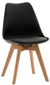 CLP Stuhl Linares Kunstleder Stoff Samt, Farbe:schwarz, Material:Kunststoff