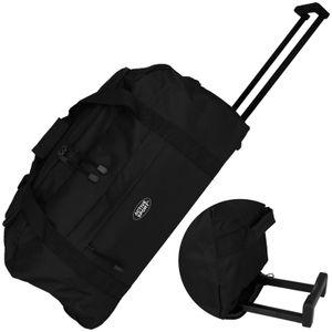 Active Sport Trolleytasche schwarz 50L auf 2 Rollen Reisekoffer Trolley Koffer Reisegepäck Reisetasche